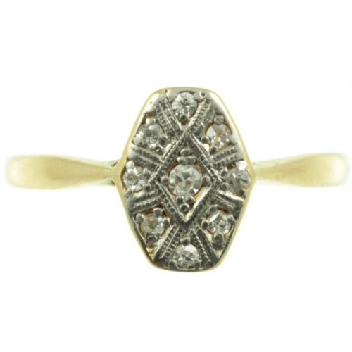 Art Deco Diamond Hexagon Ring