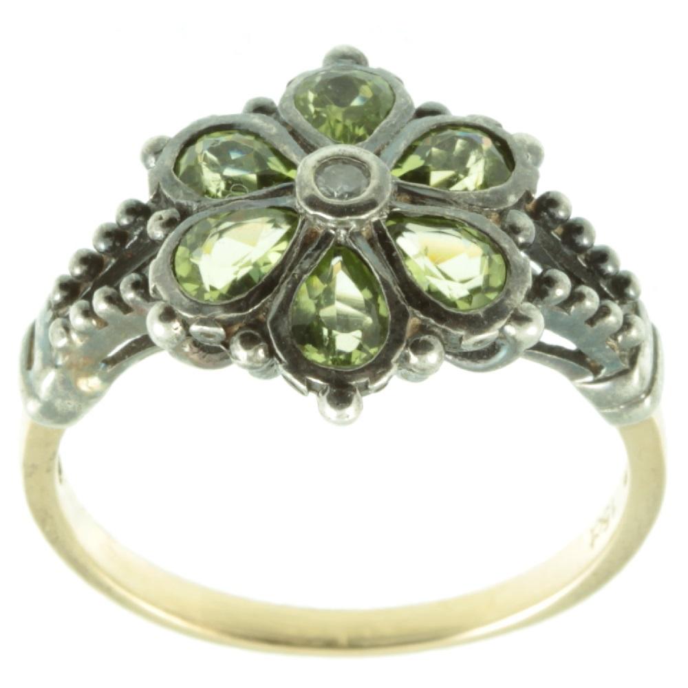 Art Nouveau peridot pendant
