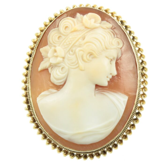 Edwardian 9ct Gold Cameo Brooch