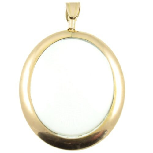 Edwardian 9ct Gold Glass Locket