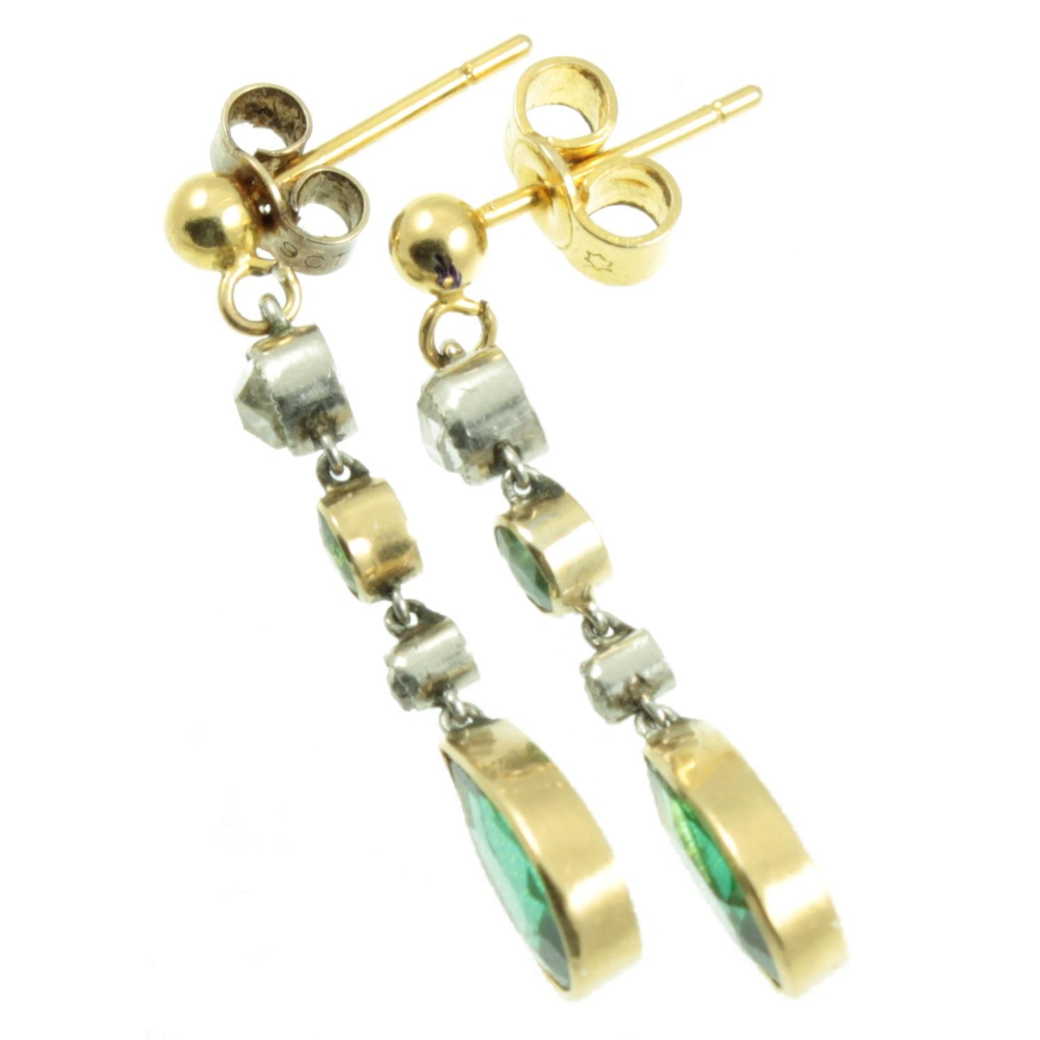 Edwardian Diamond and paste earrings
