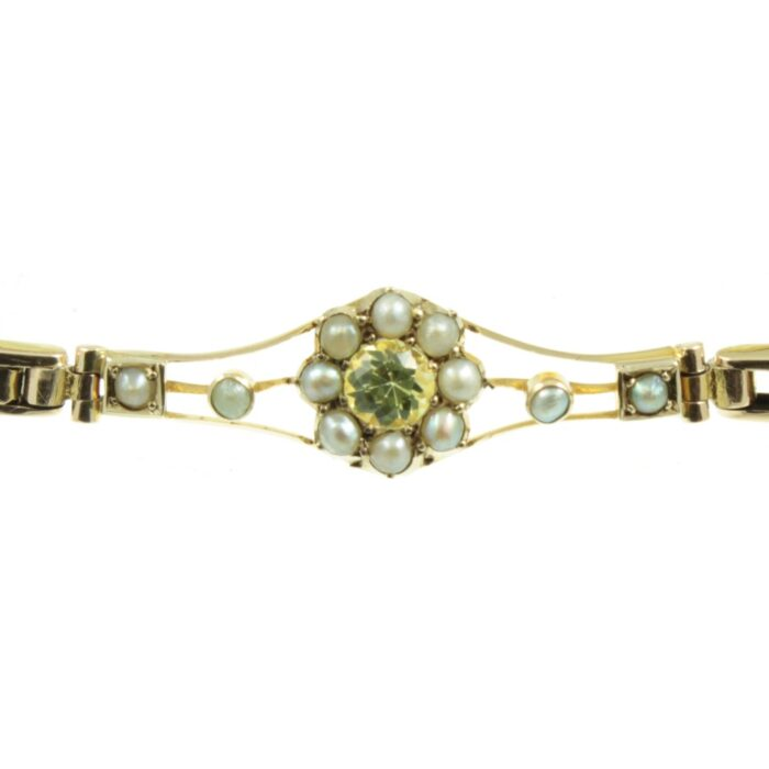Edwardian Yellow Sapphire Bracelet