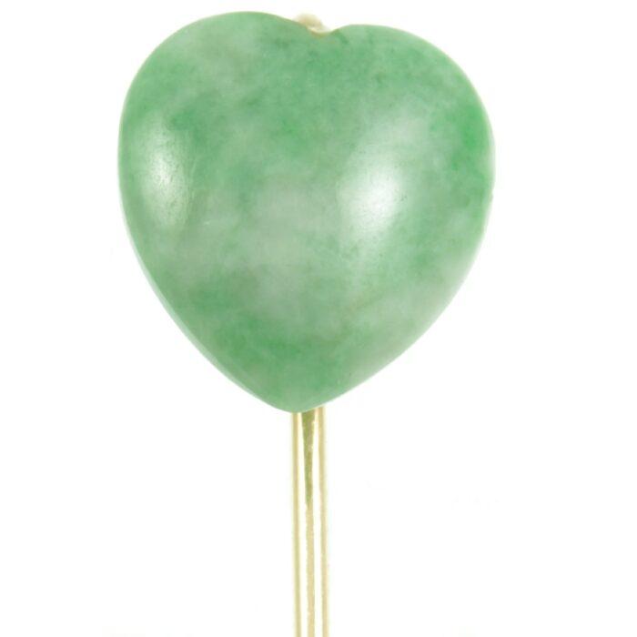 9ct gold jade tie pin