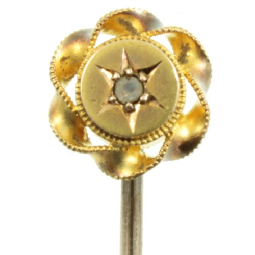 Victorian 15ct Gold Diamond Tie Pin