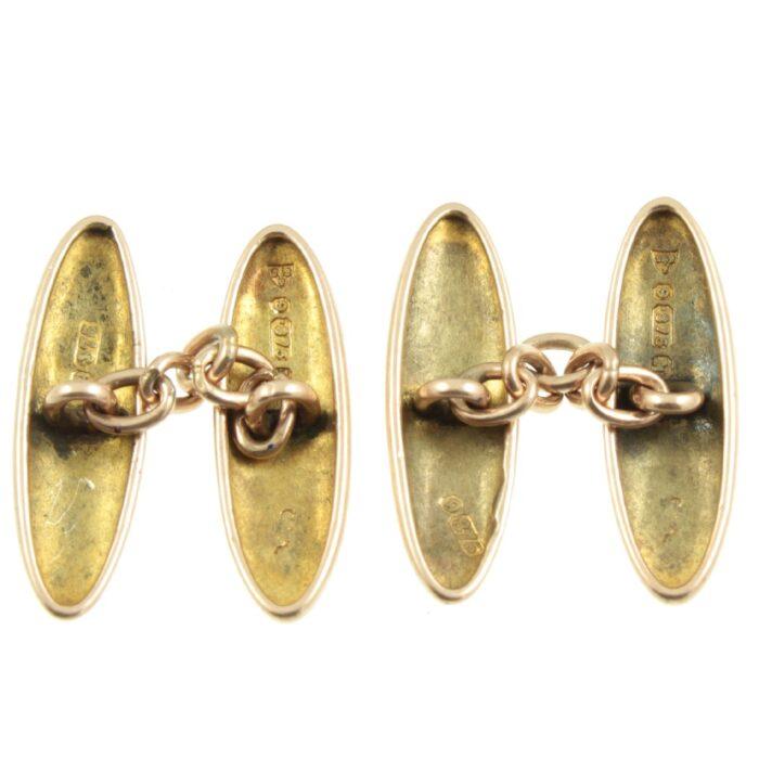 Victorian 9ct Rose Gold Cufflinks