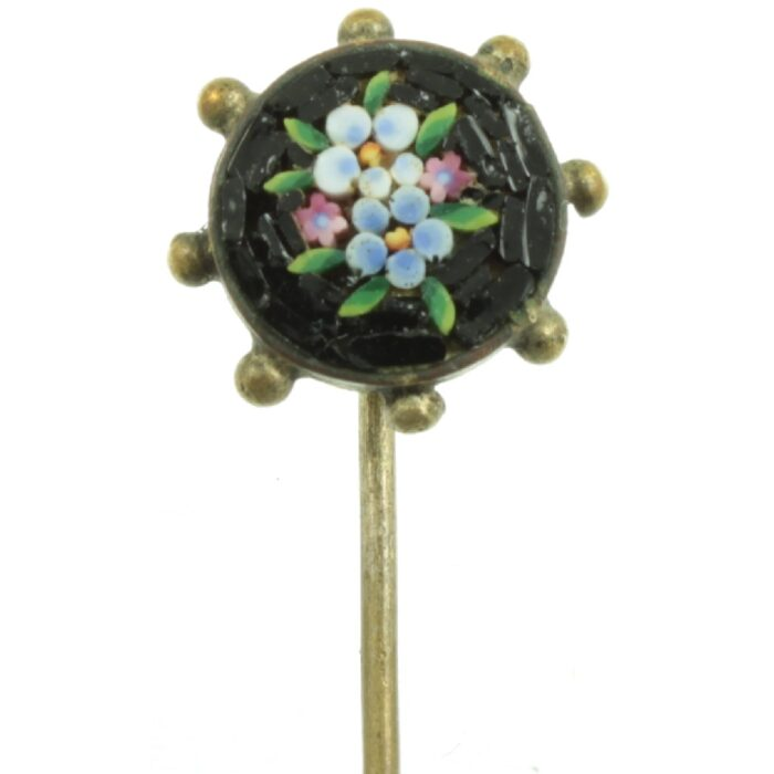 Victorian Micro Mosaic Tie Pin