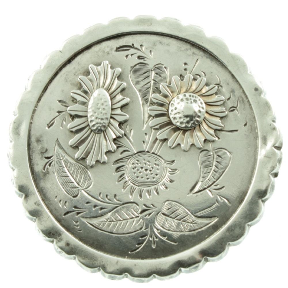 Victorian Silver Daisy Brooch