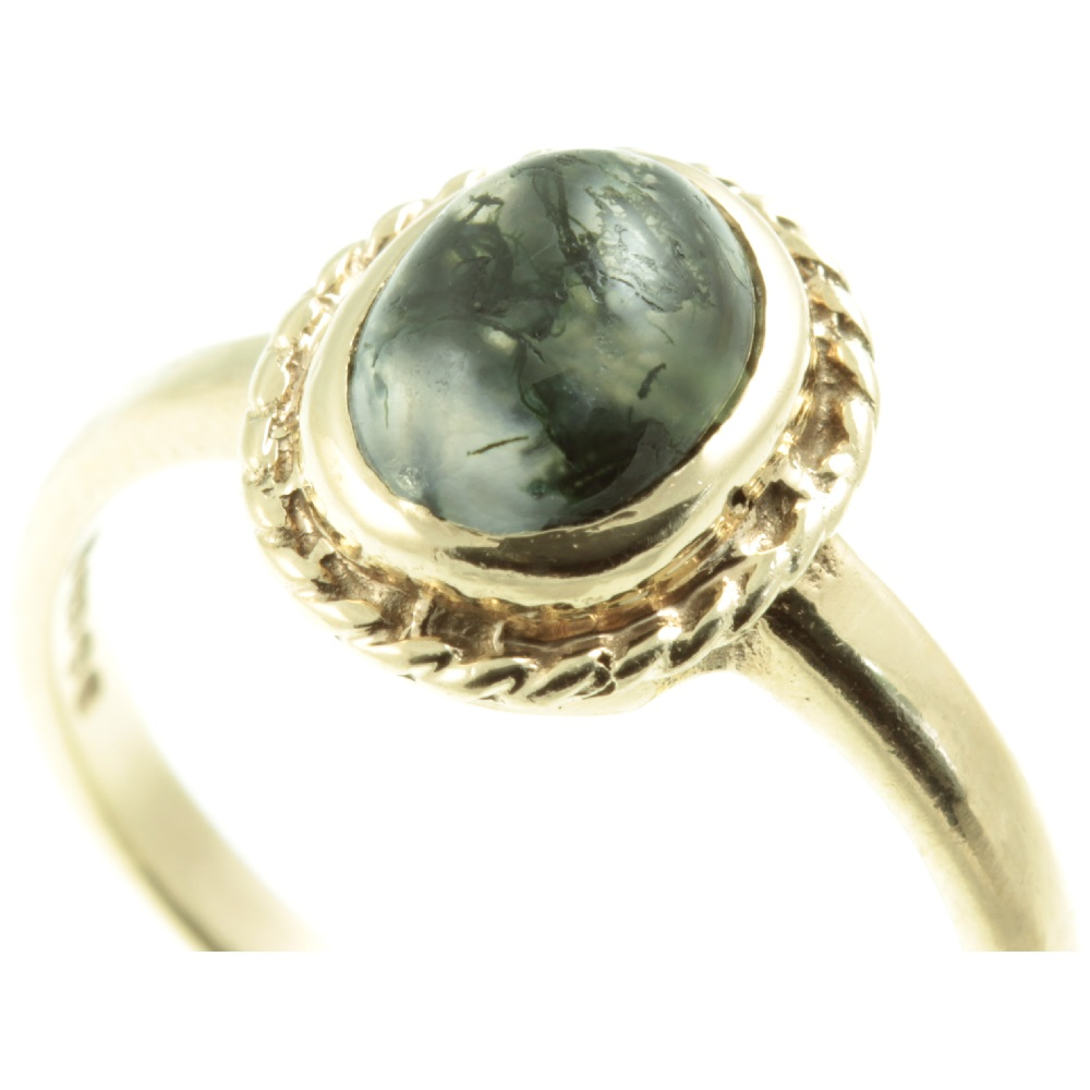 bold ring Multistone open ring turquoise and moss agate statement ring
