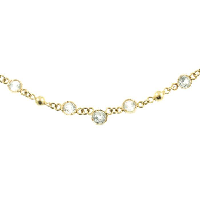 Art Deco white Sapphire necklace
