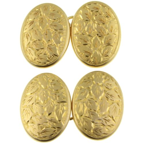 Edwardian 15ct gold cufflinks