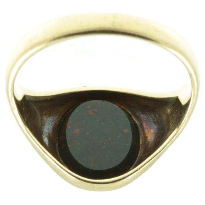 Edwardian 9ct gold bloodstone signet ring