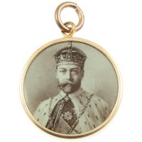 King Edward vii and Queen Alexandra pendant