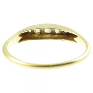 Victorian 18ct gold 5 stone diamond ring