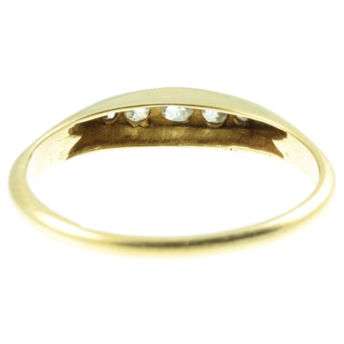 Victorian 18ct gold 5 stone diamond ring