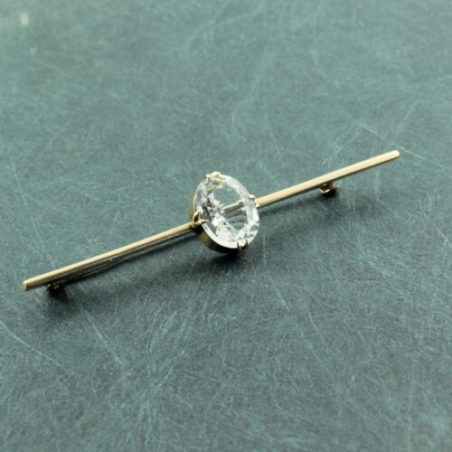 Victorian 9ct gold Aquamarine bar brooch