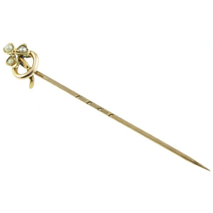 Victorian 9ct gold Shamrock Tie Pin