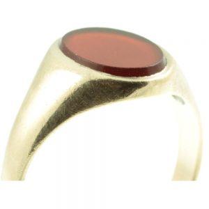 Victorian 9ct gold sardonyx signet Ring
