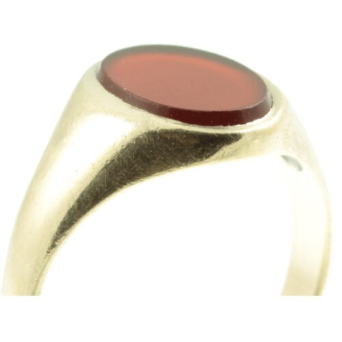 Victorian 9ct gold sardonyx signet Ring