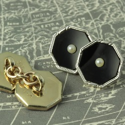 Art Deco seed pearl cufflinks