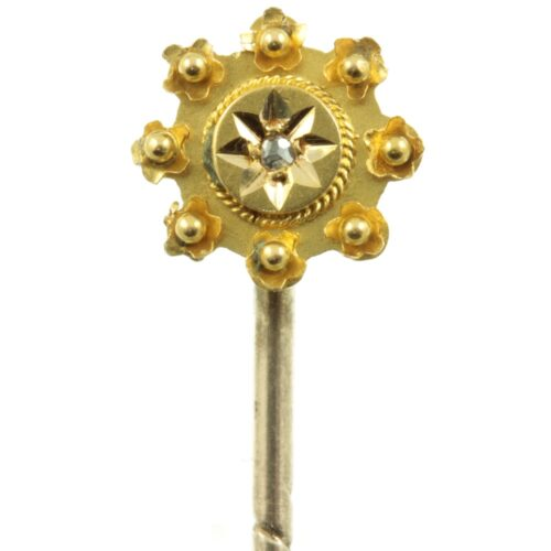 15ct Gold and Diamond Victorian Tie Pin