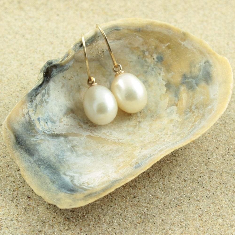 9ct Gold Pearl Earrings