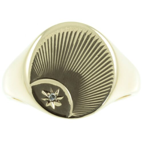9ct Gold and Diamond Signet Ring