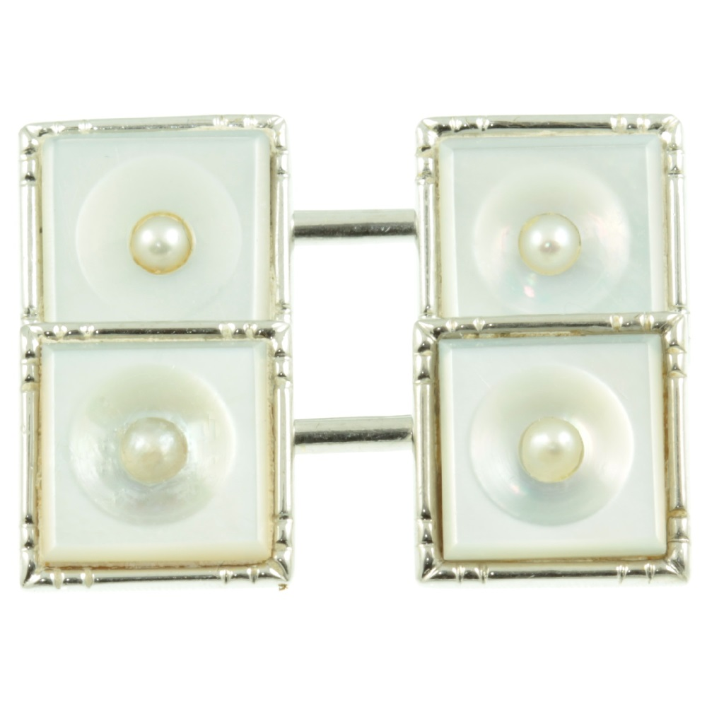 Art Deco 9ct Gold and Pearl Cufflinks