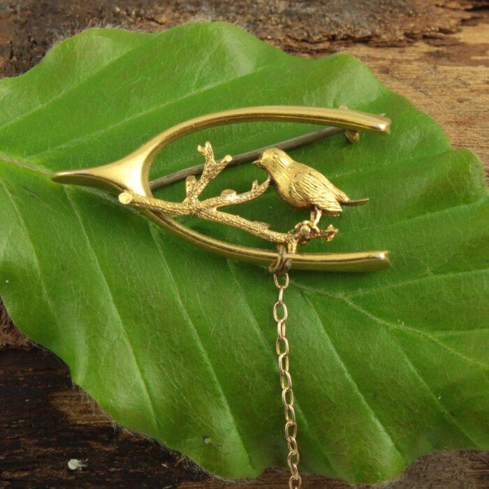 Art Nouveau 15ct gold Bird Brooch