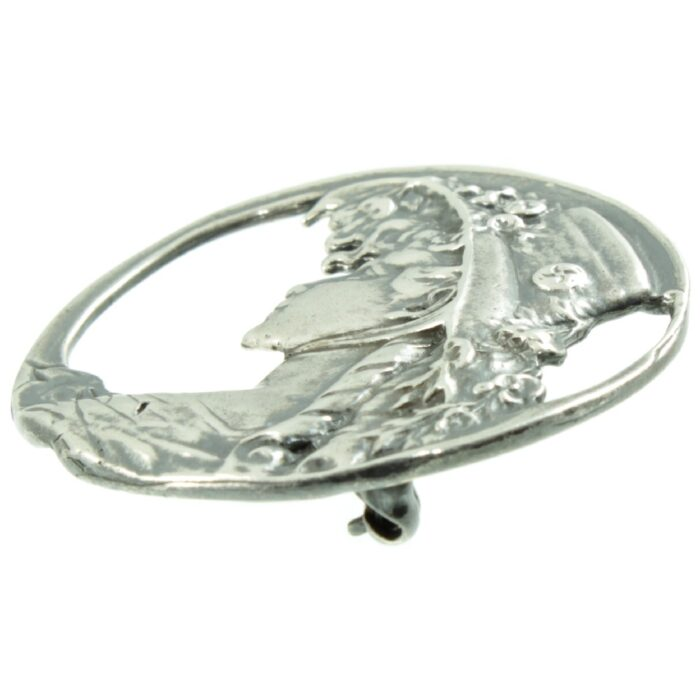 Art Nouveau Sterling Silver Brooch