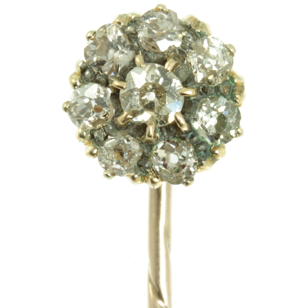 Victorian Diamond Tie Pin