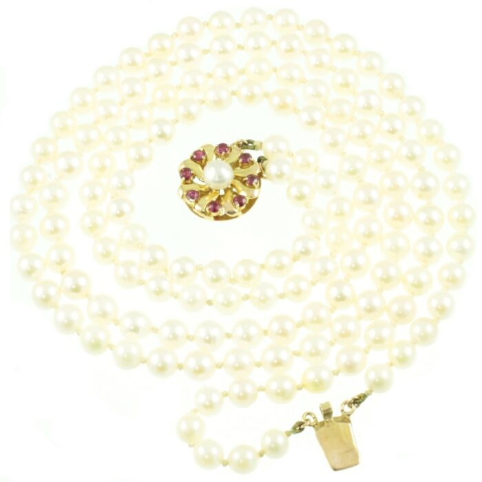 1950s double stand pearl necklace