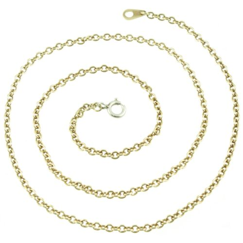 9ct Gold Trace Link Chain Necklace