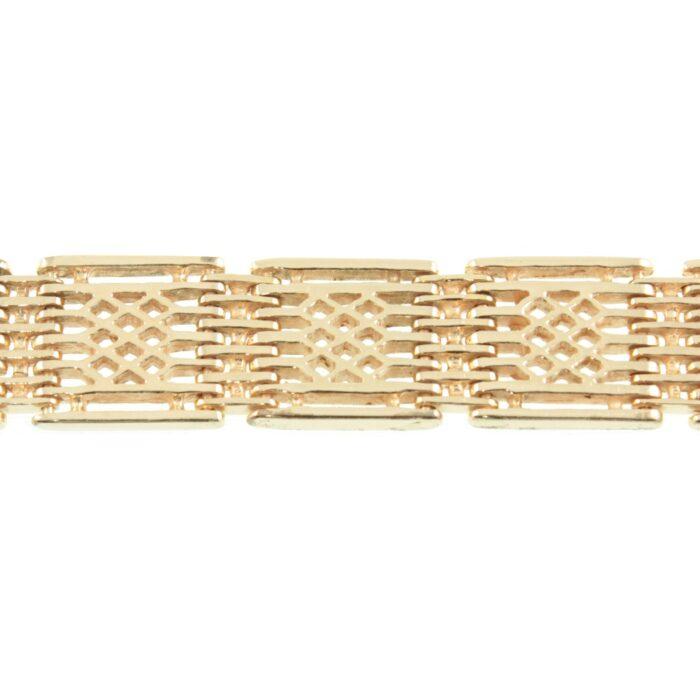 9ct gold gate link bracelet