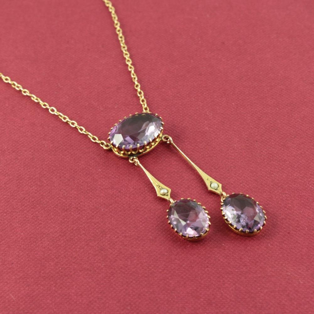 edwardian amethyst negligee necklace
