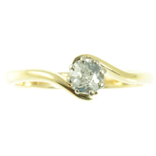 18ct gold solitaire diamond engagement ring