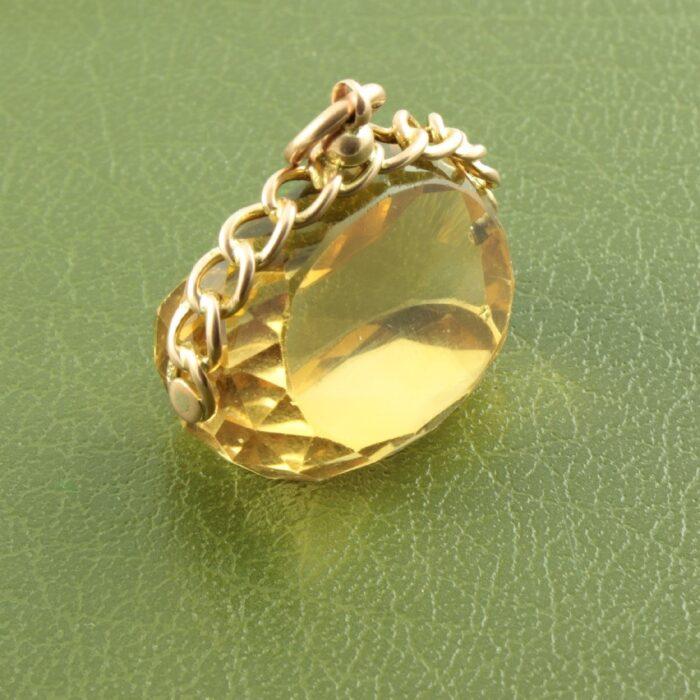 9ct gold Victorian Citrine fob