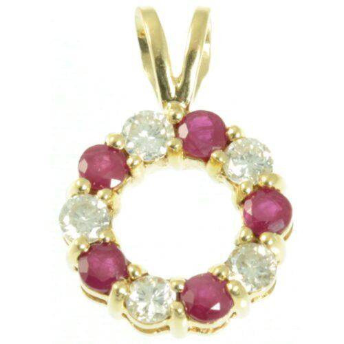Diamond and Ruby Pendant